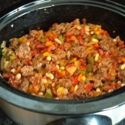 Chili before cooking