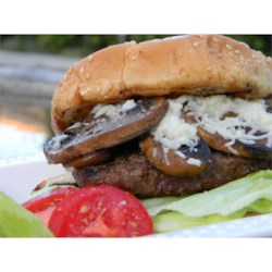 Grilled Mushroom Swiss Burgers Recipe - This is a great way to spice up an ordinary hamburger.  Not only can this be done on the grill, but pan fried if desired.  Too good not to try!!