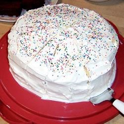 Lemon cake--with sprinkles!!