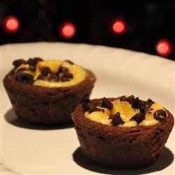 Marbled Tarts Recipe - This recipe delivers an appealing chocolate treat with the richness of cheesecake.