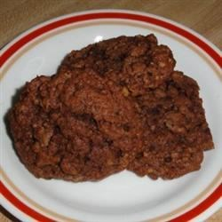 Chocolate Oatmeal Drop Cookies Recipe - Chocolate oatmeal cookies made with a cake mix base.