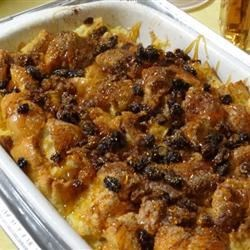 Bread Pudding II Recipe - Baking this raisin-free bread pudding in a water bath insures against any graininess in the custard.