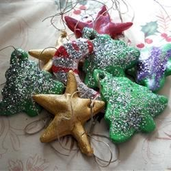 Dough Ornament Recipe Recipe - Decorative cookies. NOT EDIBLE!