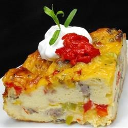 Easy Sausage Strata Recipe and Video - This layered breakfast casserole has cheese, eggs, and a whole lot of hearty goodness.