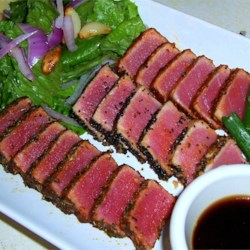 Seared Ahi Tuna Steaks Recipe - This is an elegantly simple way to cook tuna that any restaurant would be jealous of!