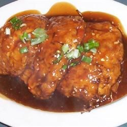Lighter Chicken Egg Foo Young  Recipe - Cooking spray, egg whites, and chicken tenderloin meat make this version of egg foo young so light it almost floats away, and it's ready in only a few minutes. Eat this anytime -- it makes a great breakfast.