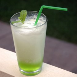 Italian Cream Soda Recipe - A watermelon and passion fruit flavored Italian cream soda.