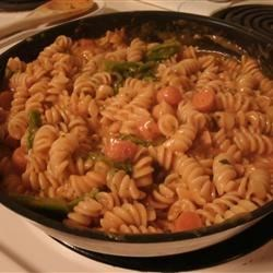 Creamy Pasta and Vegetables Recipe - This quick and easy vegetarian pasta is creamy and satisfying any night of the week.