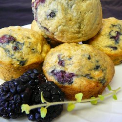 Basic Buttermilk Muffins Recipe - Start with a great basic muffin batter, then add blueberries and lemon zest, or chopped apples and cinnamon -- whatever flavors you like!
