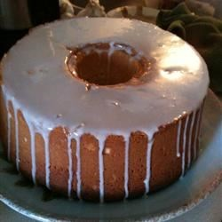 Cream Cheese Pound Cake w/ Lemon Glaze