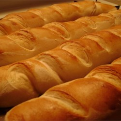 French Baguettes Recipe - Great eaten fresh from oven. Used to make sub sandwiches, etc.