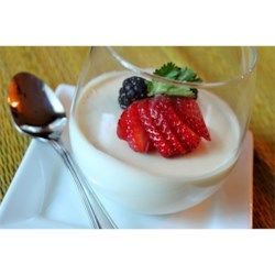 Panna Cotta Recipe and Video - A traditional, easy, and delicious Italian custard.  I had a difficult time finding a good and easy recipe on the internet, so I made up my own recipe. It tastes just like the panna cotta served at Italian restaurants. Serve with warm hot fudge sauce and fresh raspberries on top. This keeps well for several days in the refrigerator.