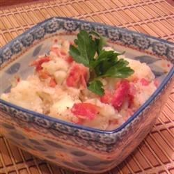 Brian's German Potato Salad Recipe - Bacon, onions, and celery seed flavor this rich, warm German potato salad.