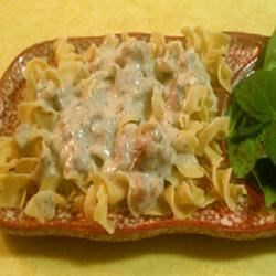 White Sauce with Ham and Herbs Recipe - Ham, Parmesan cheese, and fresh herbs transform this simple white sauce into a hearty meal.  It's just delicious when served over chunky pasta or toasted bread and topped with grated Parmesan cheese.
