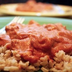 Seitan Makhani (Vegan-Style Indian Butter Chicken) Recipe - Seitan is a meat substitute made from wheat protein (gluten). It makes a terrific substitute for chicken in this vegan curry recipe. Serve over hot rice or with naan, if desired.