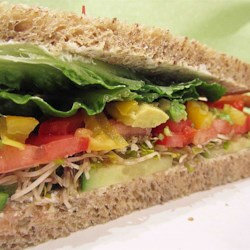 Cucumber Sandwich Recipe and Video - I worked at a sandwich shop that made these vegetable sandwiches stuffed with cucumbers, sprouts, tomatoes, and avocadoes. They were a veggie's dream!