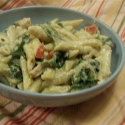 Pesto Chicken Penne Casserole Recipe and Video - Creamy, flavorful and so easy to fix. This meal-in-one will wow family and friends.