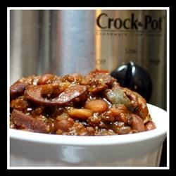Bourbon Barbecue Slow Cooker Beans