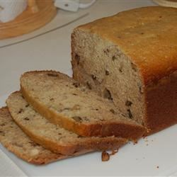 Banana Nut Bread II Recipe - This is a bread machine recipe for classic banana-nut bread.