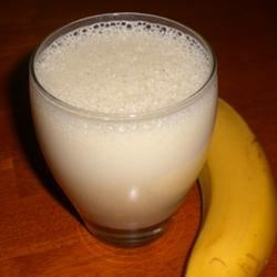 Banana Smoothie II Recipe - A yummy banana smoothie that's great for breakfast. Please note: this recipe contains raw eggs. We recommend that pregnant women, young children, the elderly and the infirm do not consume raw eggs. Important: be sure to use only fresh eggs for this recipe.