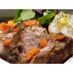 Slow Cooker Cider Pork Roast Recipe - This apple cider-braised pork roast is very tender and full of flavor.