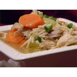 Cornish Hen Soup Recipe - Plenty of garlic is used in this vegetable-rich soup made with a Rock Cornish game hen in a clear broth.
