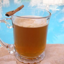Simple Hot Spiced Apple Cider Recipe - Simple spiced Apple Cider! Wonderful for a shower, or any time you are entertaining a large group. The slow cooker keeps it warm, so guests can enjoy it at the perfect temperature through the night.