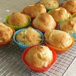 Fruit Muffins Recipe - This is a basic fruit muffin recipe. I use chopped apples, but 1 cup of any type fruit may be added to make a quick and easy batch of fruit muffins.