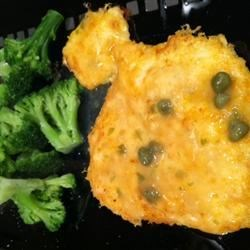 Funny shaped chicken piccata