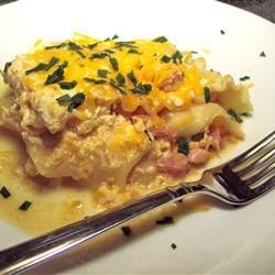 Verenike Casserole for the Slow Cooker Recipe - A slow cooker casserole version of the beloved Russian verenike or vereniki (little dough pockets stuffed with cheese), this is made in the slow cooker with cottage cheese, lasagna noodles, and ham to give you the flavor without the work of filling all the pastries.