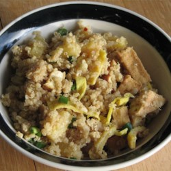 Pineapple Fried Quinoa Recipe - Pineapple fried rice meets quinoa in this satisfying dish.