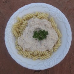 Creamy Italian Chicken Recipe - Cubed chicken breast meat slow-cooks with just a few simple ingredients to make easy chicken in a creamy sauce to serve over hot linguine.