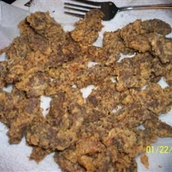 Venison Fingers Recipe - Venison strips are deep fried with a Parmesan cheese coating, and served with a tangy, sweet dipping sauce.