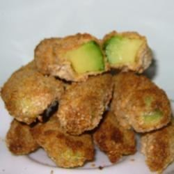 Fried Avocados Recipe - Avocados sliced, battered, then deep fried to a golden brown.  Yum!  Yum!