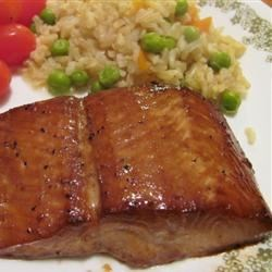 Delicious Salmon Recipe - Salmon is marinated in soy sauce, brown sugar, garlic, and lemon pepper overnight and then broiled for a simple-but-delicious main dish.