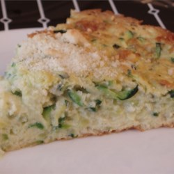 Zucchini Souffle with Monterey Jack Cheese