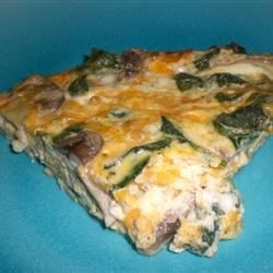 Spinach and Mushroom Frittata Recipe - Looking for a vegetable with super health powers? Try spinach. It's packed with vitamins, minerals and antioxidants that protect you all your life.