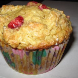 Strawberry Oat Muffins Recipe - A delight to munch on with that morning coffee!