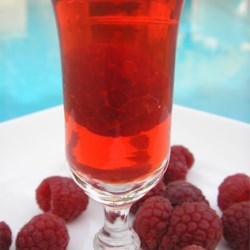 Raspberry Party Shots Recipe - A raspberry vodka gelatin shot that is wonderful for parties!
