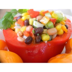 Uptown Cowboy Caviar  Recipe - This colorful bean salsa is so easy to put together. Serve it with tortilla chips, or add a scoop to some mixed greens for a hearty salad.