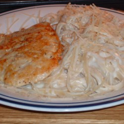 Fettuccini Alfredo I & Parmesan Crusted Chicken