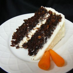 Lynn's Carrot Cake Recipe - A special carrot cake with chocolate and pineapple. This is great with the coconut cream cheese frosting.