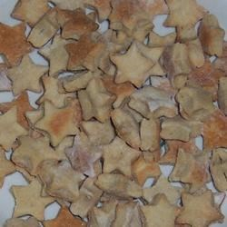 Sparky's Doggie Treats Recipe - Any dog will be sure to love these doggie biscuits. They have just the right amount of peanut butter flavor to please your four-legged friends!