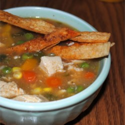 South of The Border Chicken Soup Recipe - This is a very quick and easy chicken soup recipe to make and very savory as well.