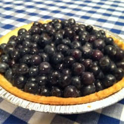 Jan's Fresh Blueberry Pie Recipe - This is a superb, easy dessert made with all-fresh blueberries during the peak of their season.  You're gonna love it!  At serving time, garnish with whipped topping.