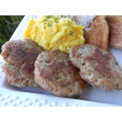 Grampa's Coriander Turkey Sausage Recipe - Homemade turkey sausage patties with warm, aromatic spices refrigerate overnight to blend the flavors, and then are ready to eat in minutes.