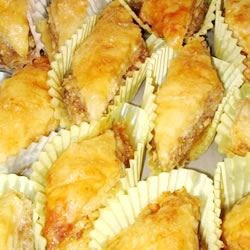 Baklava Recipe - This Near Eastern pastry is made of many layers of paper-thin dough with a filling usually of honey and ground nuts.  If you like honey, you'll probably like Baklava.