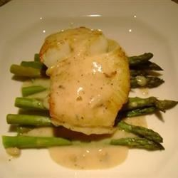 Pan Seared Sea Bass in cream sauce ( www.romeoscateringny.com )