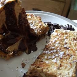 Peanut Butter Cup Grilled Sandwich Recipe - A grilled peanut butter and chocolate sandwich. We used to make these camping in a pie iron over a campfire. It was one of our favorites. Modified it for home.