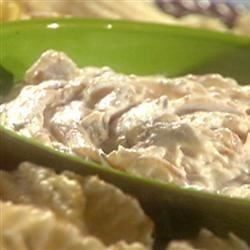 Onion Dip Recipe - This simple mayonnaise-based dip is made with fresh minced onion, soy sauce, and vinegar.
